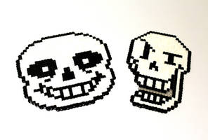 Undertale - Papyrus + Sans - Head Sprites by Retr8bit