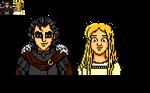 Mias and Elle - Jenny Clements - Pixel Sprite by Retr8bit