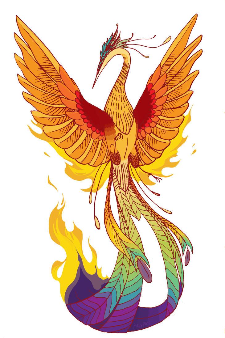 phoenix tattoo design by prayke on deviantart. Black Bedroom Furniture Sets. Home Design Ideas