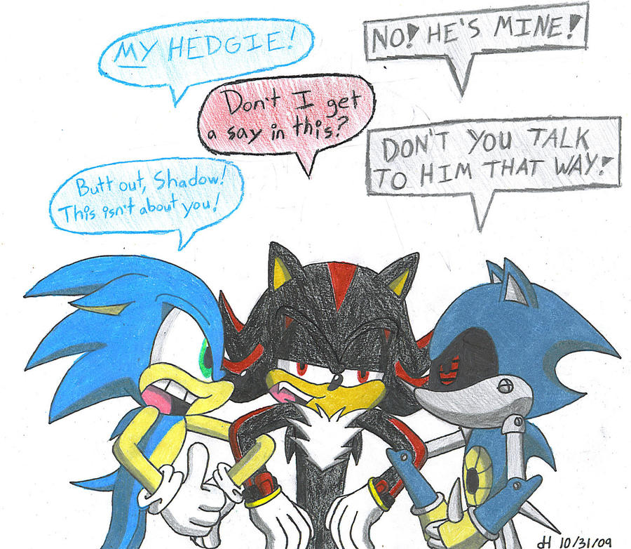 Sonic Vs. Metal by VibrantEchoes