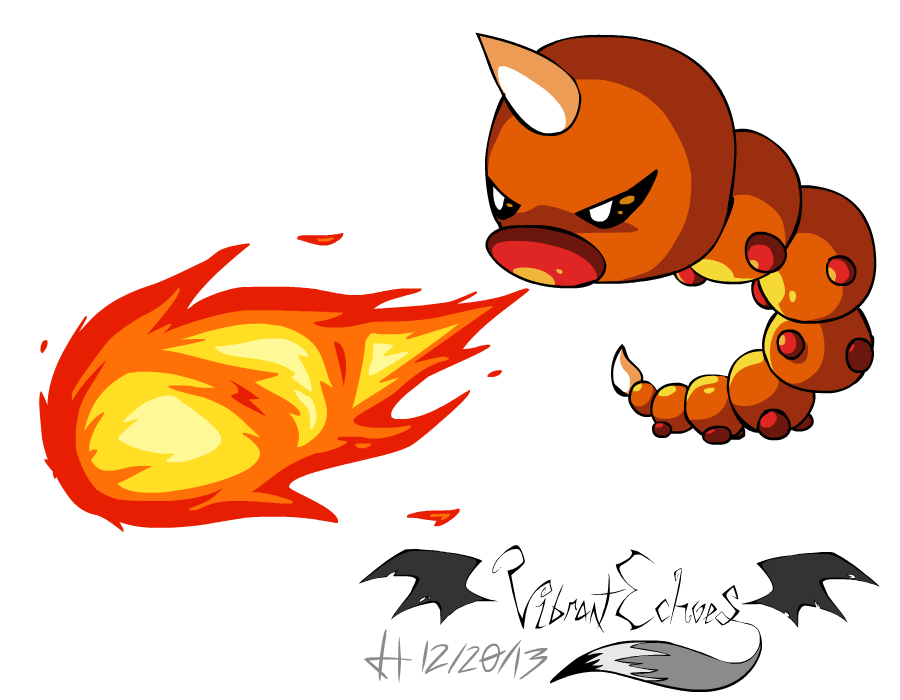 Weedle used FLAMETHROWER by VibrantEchoes on DeviantArt