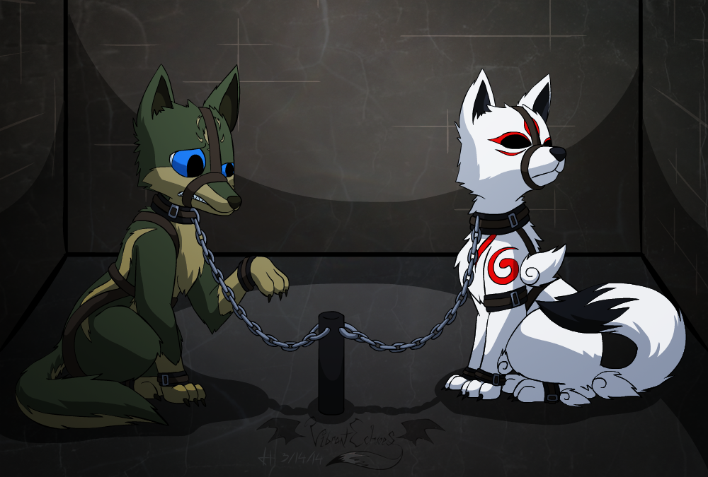 Comm - Caged Wolves VI by VibrantEchoes on DeviantArt