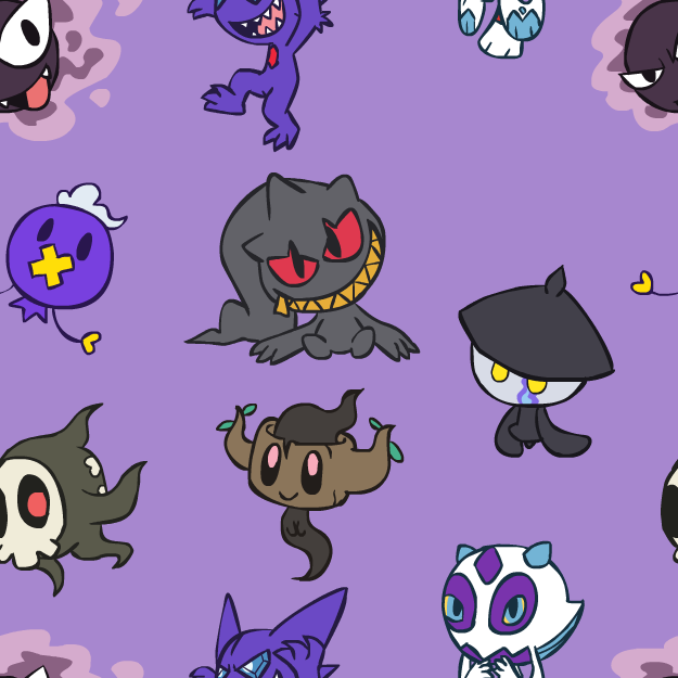 Chibi Ghost Pokemon BG by VibrantEchoes