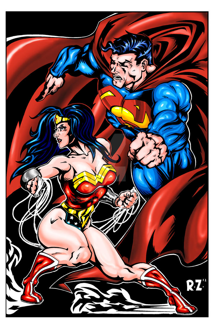 Superman and Wonder Woman Issue 211 remix- COLOR by ZUCCO-ART