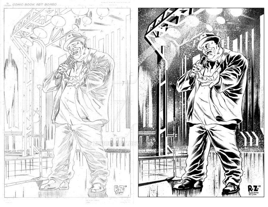 Patrice O'Neal PENCILS and INKS by ZUCCO-ART