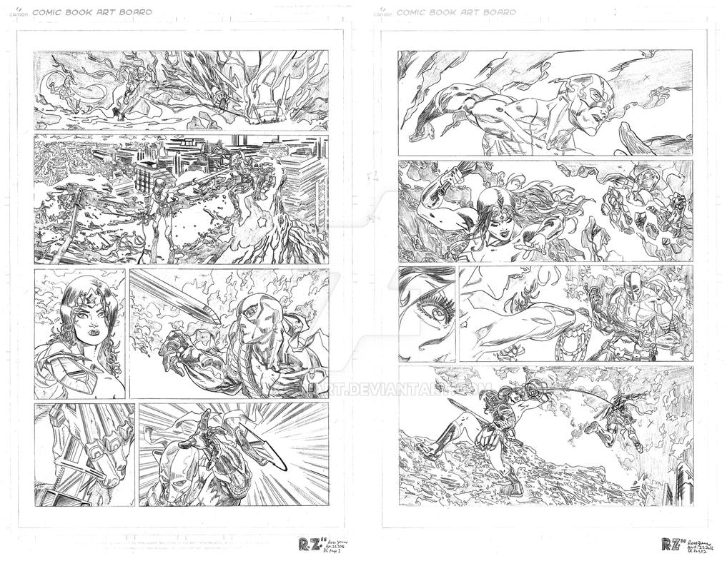 DC Two Pager- PENCILS by ZUCCO-ART