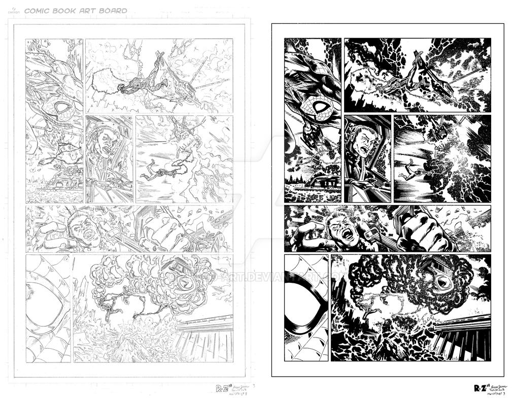 MARVEL Sample Page 3 - Pencils and Inks by ZUCCO-ART