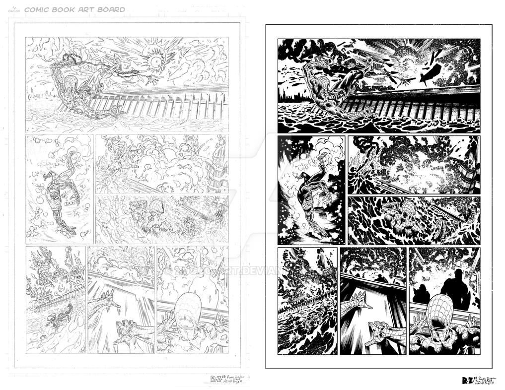 MARVEL Sample Page 4 - Pencils and Inks by ZUCCO-ART