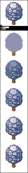 Pixels from the golden sun (7/10)  Winter tree by Sairmeroc