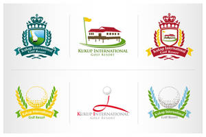 logo design of golf club by iamcadence