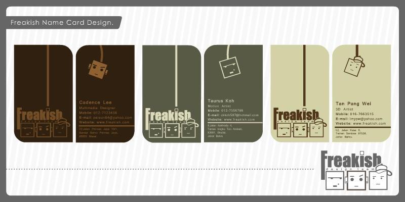 Freakish name card design by iamcadence on DeviantArt