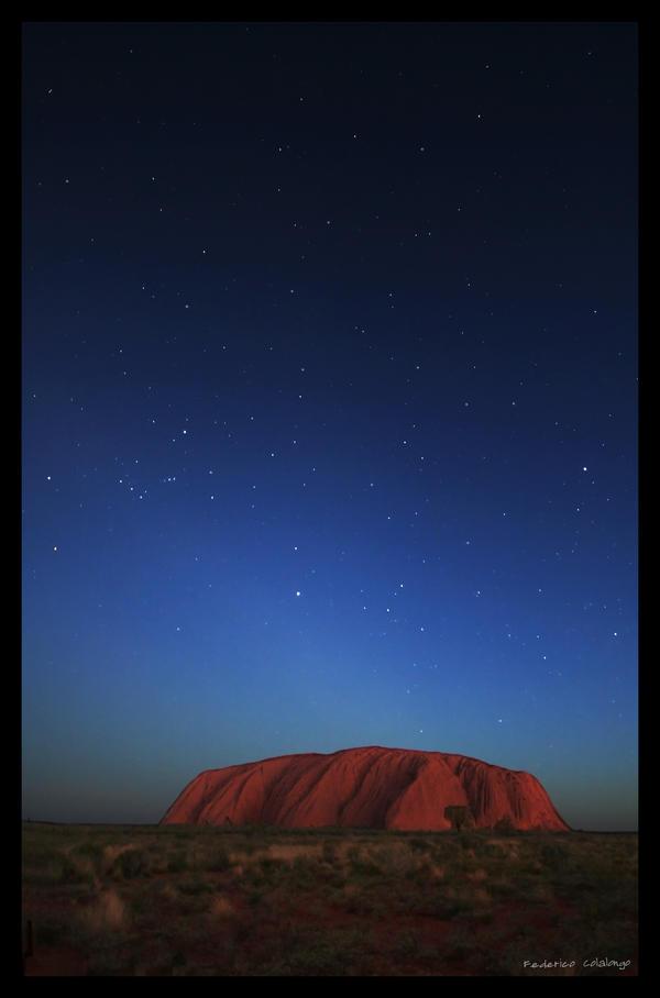 Uluru by night by godintraining