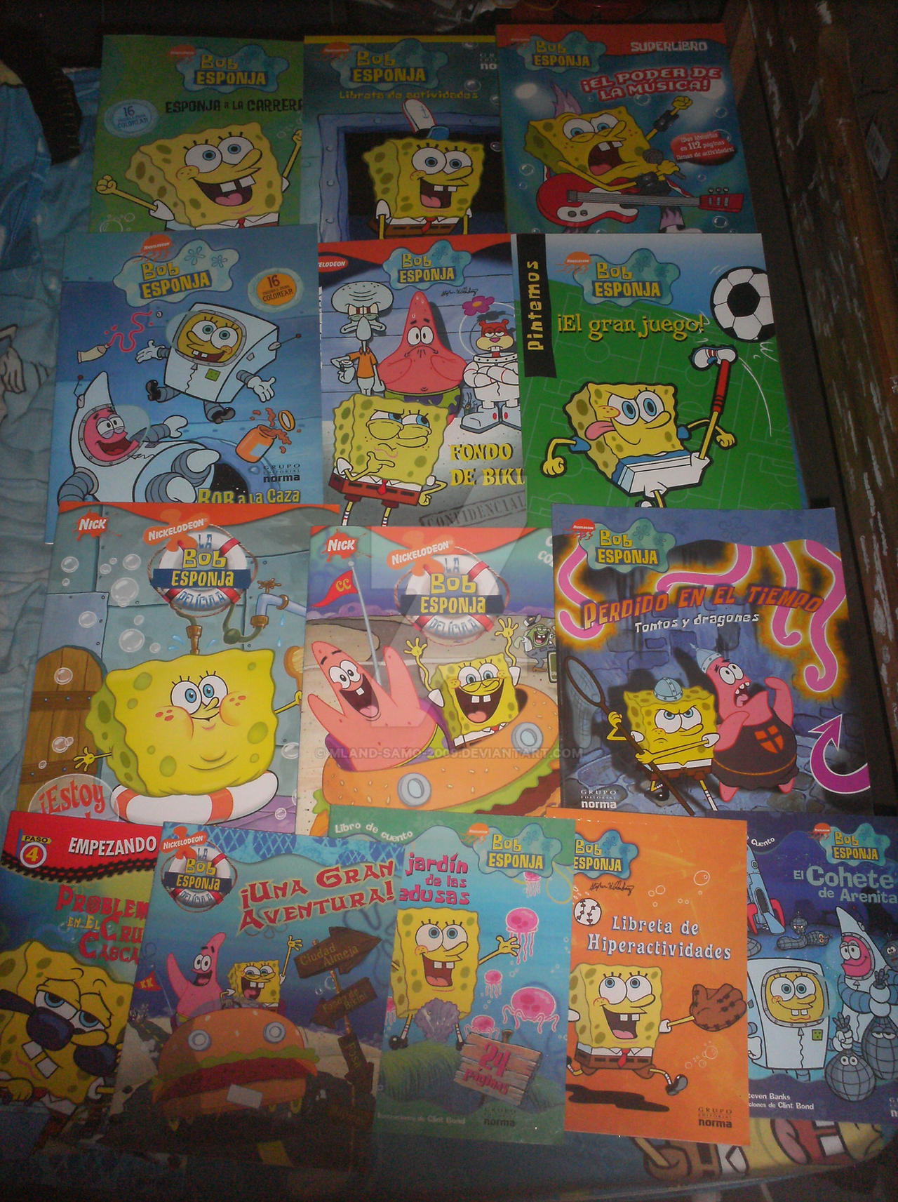 my spongebob books collection by mland samo 2009 on deviantart