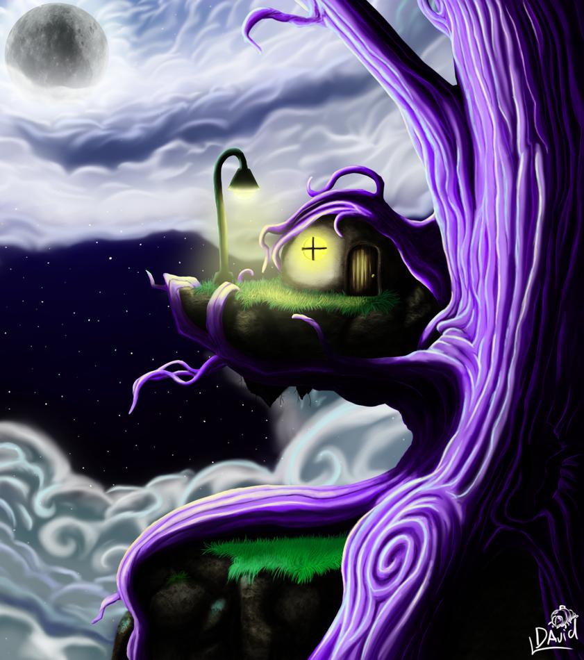 Peaceful Dark Tree by DeadAnthro