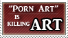 Anti Porn art stamp by DeadAnthro