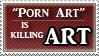Anti Porn art stamp by DeadAnthro
