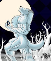 Howling at the frozen Moon by DeadAnthro