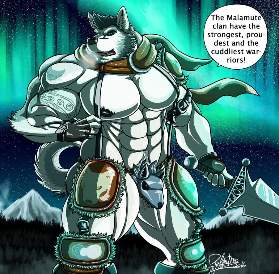 Big warrior of the cold by DeadAnthro