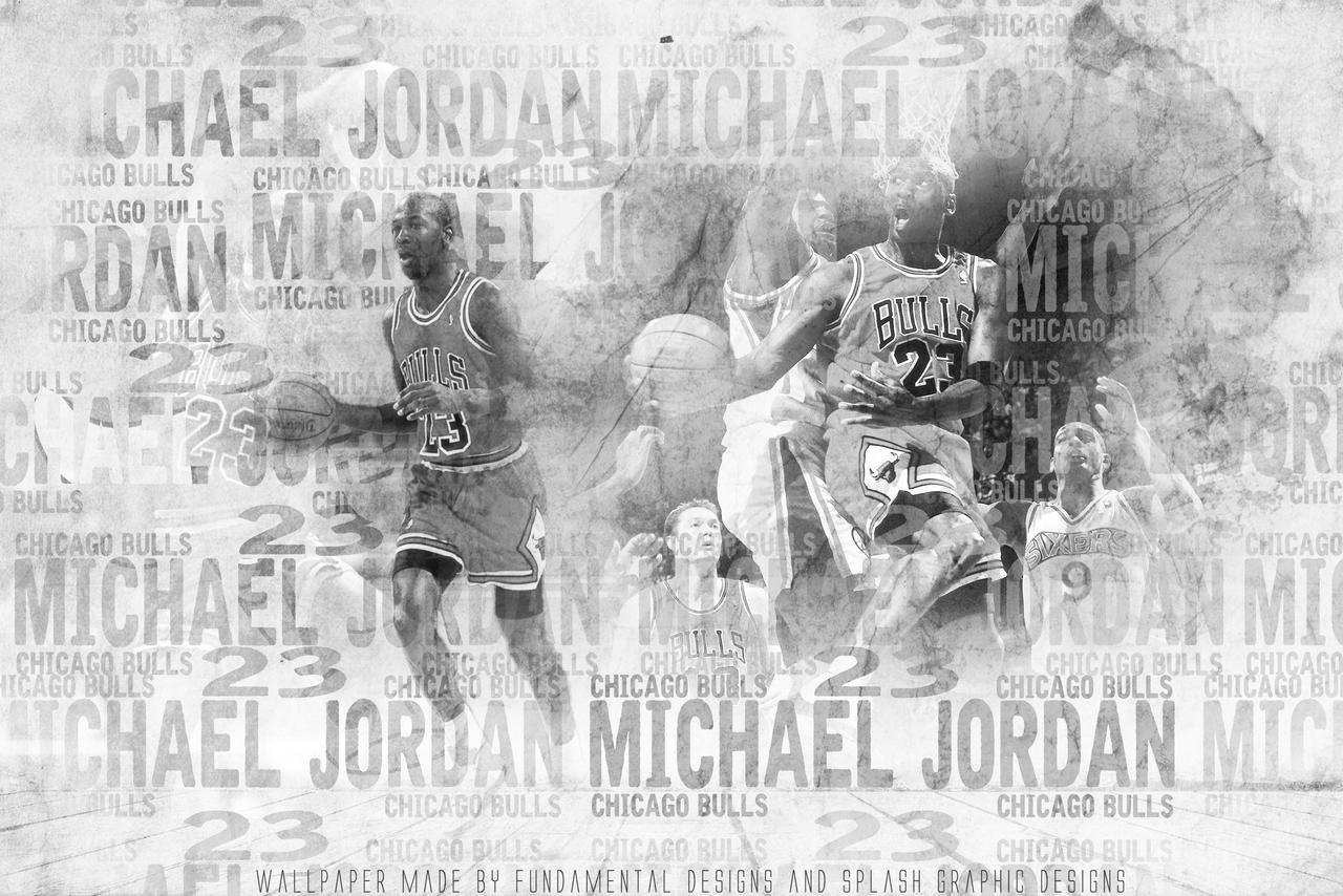Michael Jordan Black N White Wallpaper Hd By Fundamentaldesign On