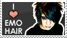 Emo Hair Stamp