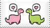 Dinosaur Stamp by Kezzi-Rose