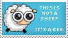 Sheepish Bee Stamp by Kezzi-Rose