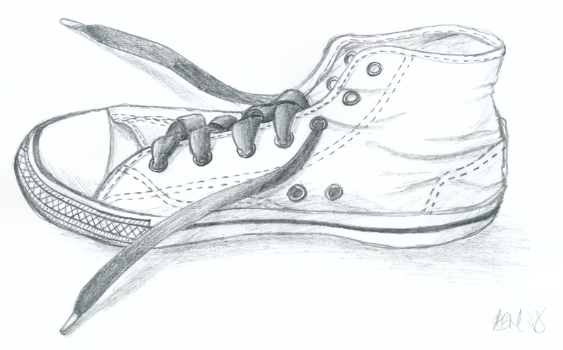 Converse Shoe Drawing Front View Converse sketch by kezzi-rose