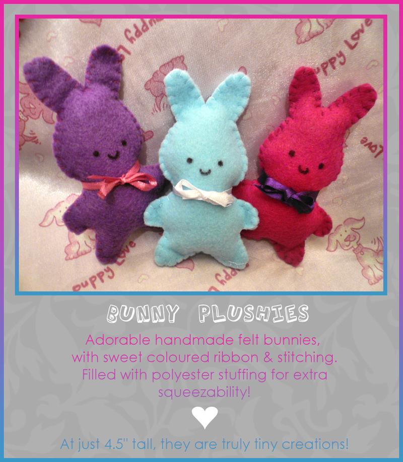Bunny Plushies by Kezzi-Rose