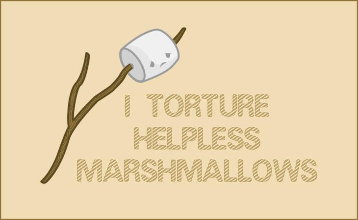 Marshmallow T-Shirt Design by Kezzi-Rose