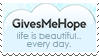 Gives Me Hope Stamp by Kezzi-Rose