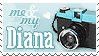 Diana Camera Stamp by Kezzi-Rose