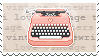 Vintage Typewriter Stamp by Kezzi-Rose