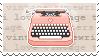 Vintage Typewriter Stamp by Kezzi-Rose