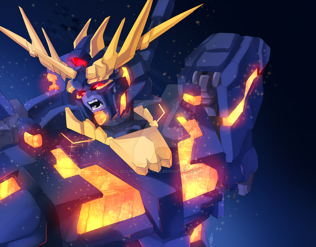 Banshee Gundam by LillinApocalypse on DeviantArt Gundam Banshee Wallpaper