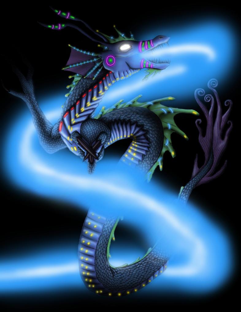 The Neon Dragon by Gojigirl
