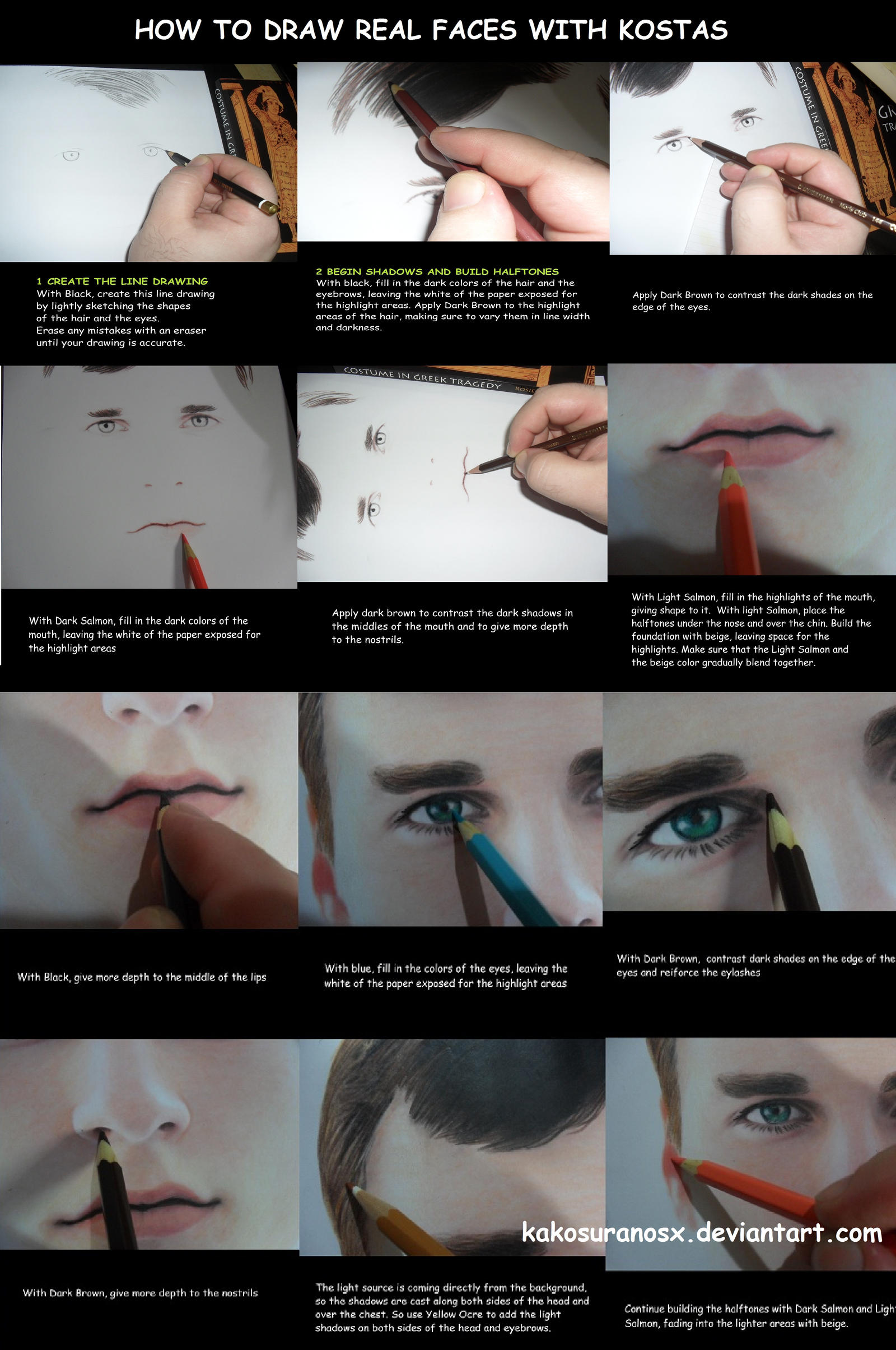 Colored Pencil Drawing Tutorial How To Draw A Boy By Kakosuranosx On DeviantArt
