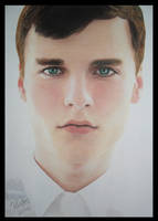Colored Pencil Drawing Realistic Portrait of a Boy by kakosuranosx