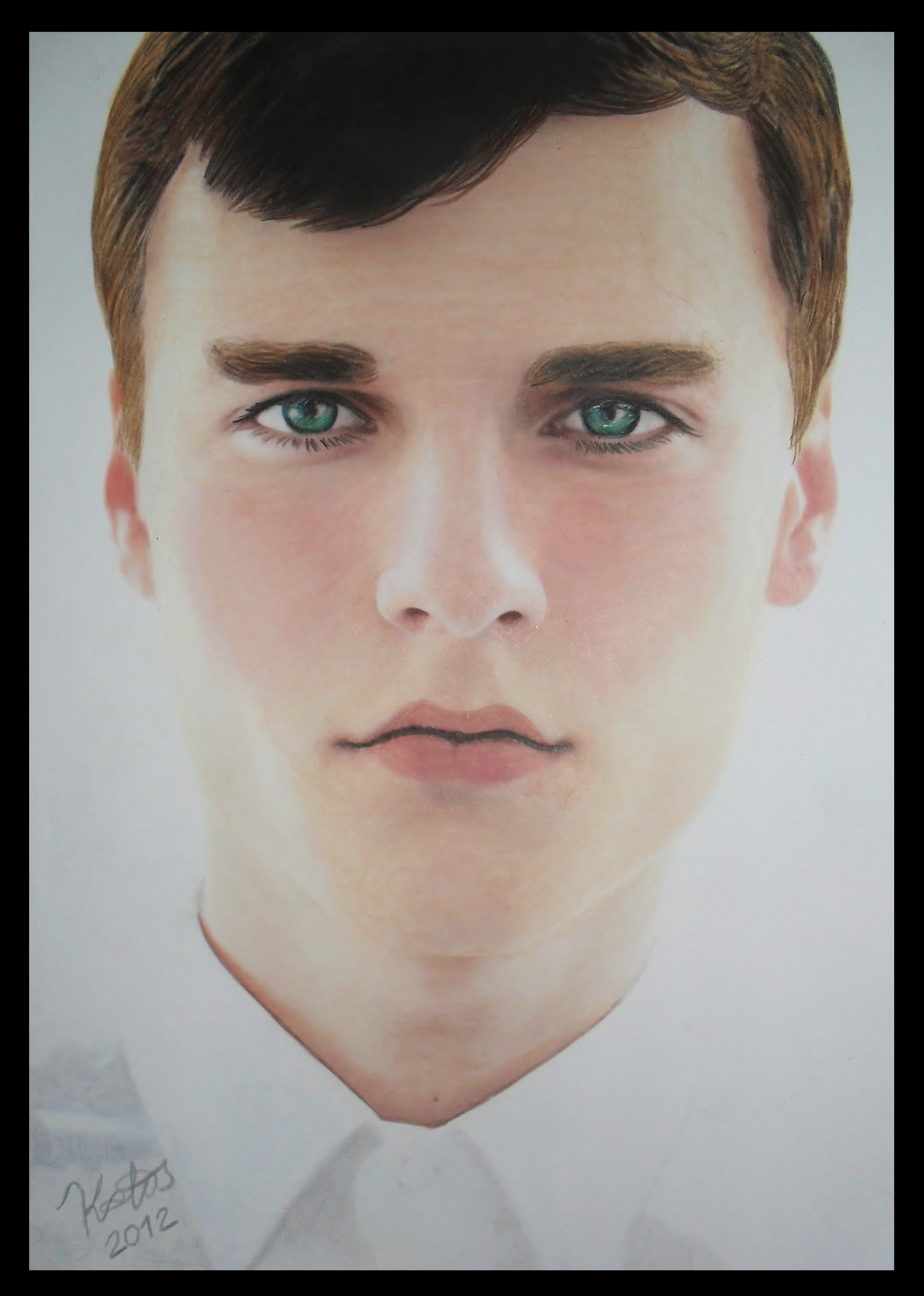 How to draw with colored pencils - Colored Pencil Drawing Realistic Portrait Of A Boy By Kakosuranosx