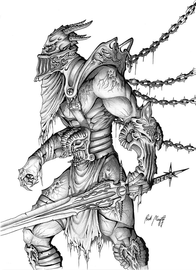 demon warrior 20 by artfreakguy on deviantart