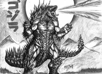 Godzilla - King of Monsters by artfreakguy