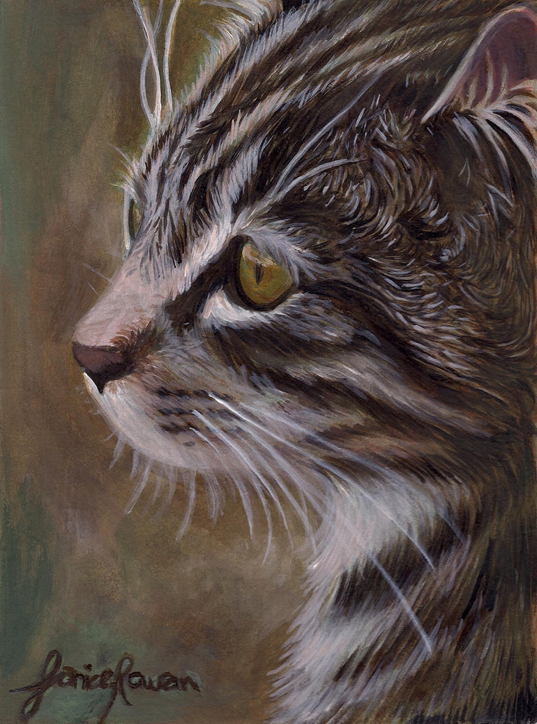 Cat painting by eternal drift on deviantart for Cat paintings on canvas