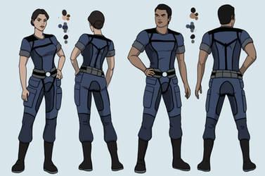 Ashley and Kaidan Alliance Uniform Design