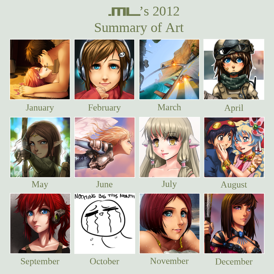 2012 Summary of Art by MLeth