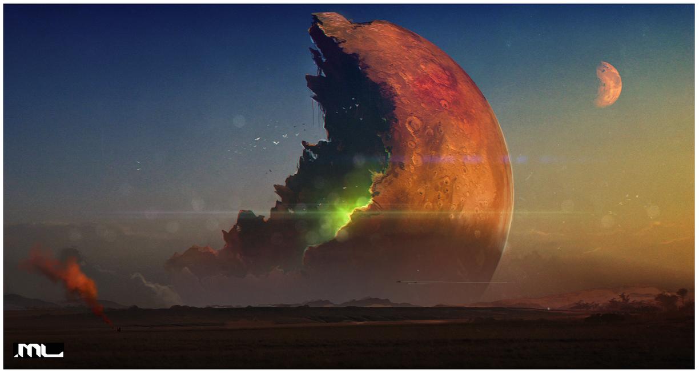 Dark Planet Saga - Mine the moon by MLeth