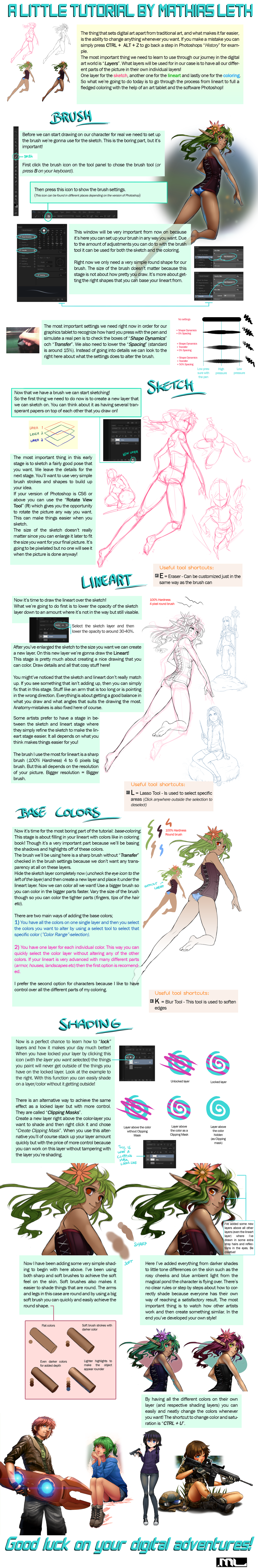 MLeth's Coloring Tutorial (Photoshop) by MLeth
