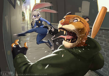 Zootopia - Judy Hopps bringing the hurt by MLeth