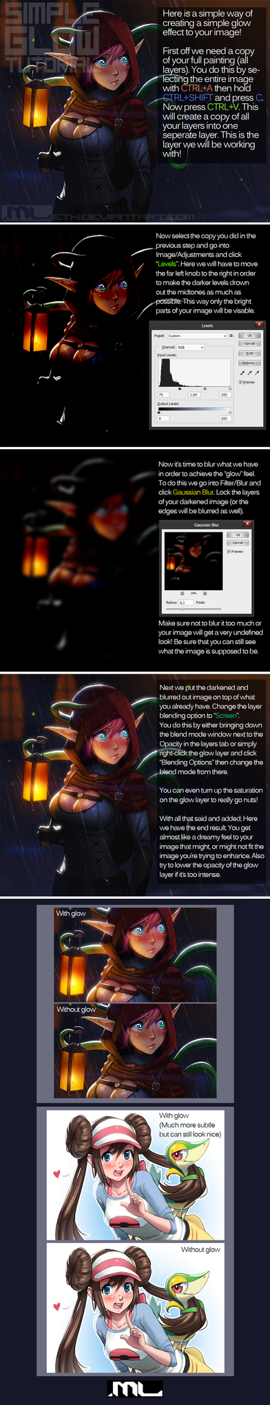 MLeth's Simple Glow Tutorial (Photoshop) by MLeth