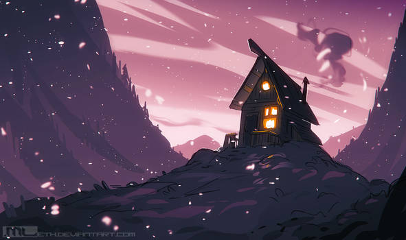 Drawing Prompt - Cozy Place
