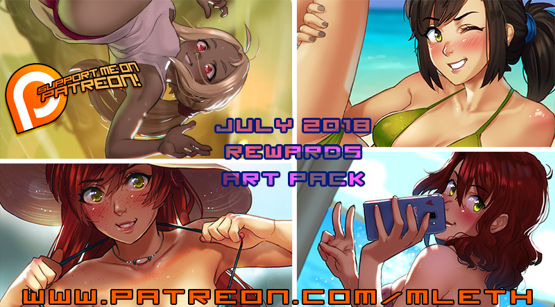 July Patreon 2018 Art Pack by MLeth