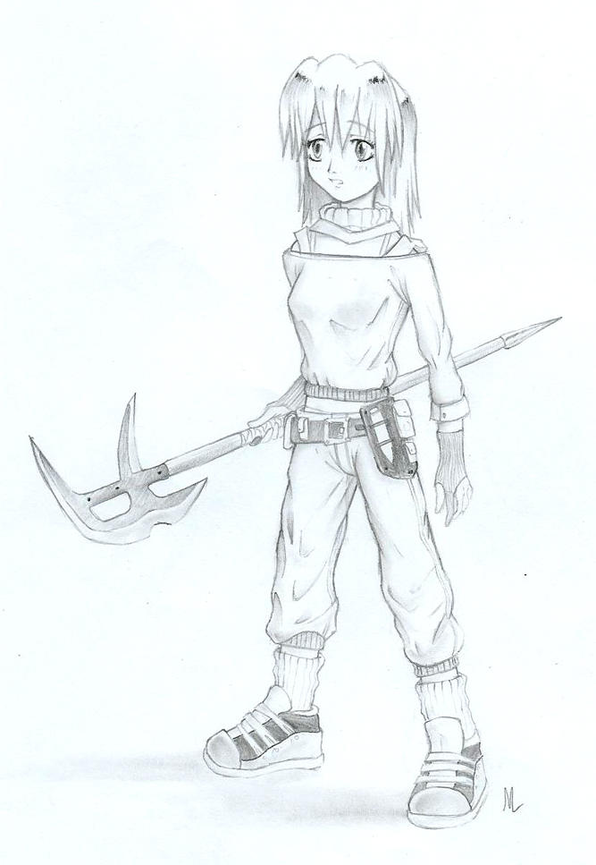 Girl with waraxe by MLeth